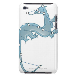 Digital illustration of a dragon representing iPod touch cover