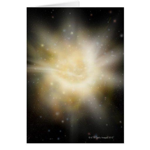 Digital Illustration of a Solar System Card