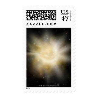 Digital Illustration of a Solar System Postage
