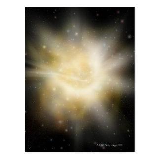 Digital Illustration of a Solar System Postcard