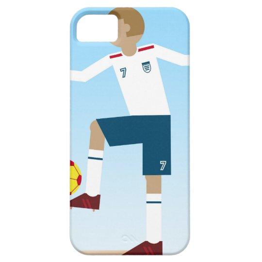 Digital illustration of football player wearing iPhone SE/5/5s case