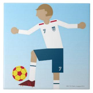 Digital illustration of football player wearing tile