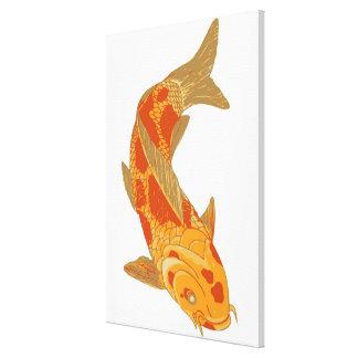 Digital illustration of Koi Carp Canvas Print