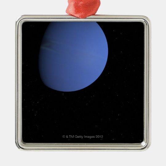Digital Illustration of Neptune Metal Ornament