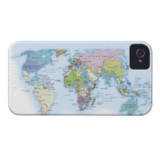 Digital illustration of the world in 1900 iPhone 4 cover