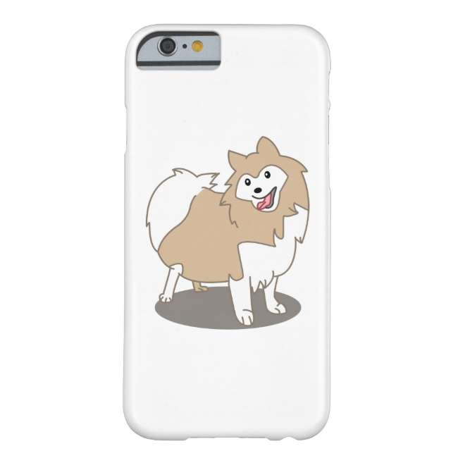 Digital Illustration - Pomeranian Dog Barely There iPhone 6 Case