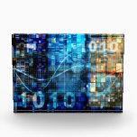 "Digital Image Background Binary Code Technology Acrylic Award<br><div class=""desc"">Digital Image Background with Binary Code Technology in Blue</div>"