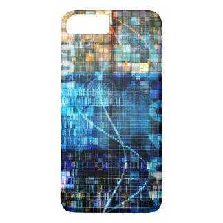 Digital Image Background Binary Code Technology iPhone 7 Plus Case