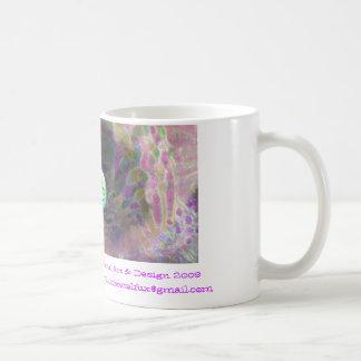 digital image::glass kaleidoscope eye, glowing,... coffee mug