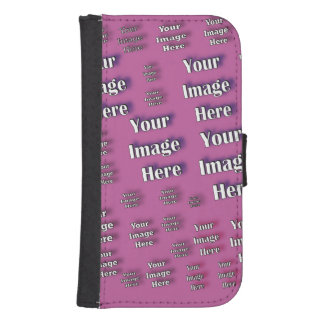 Digital Image Template Wallet Phone Case For Samsung Galaxy S4