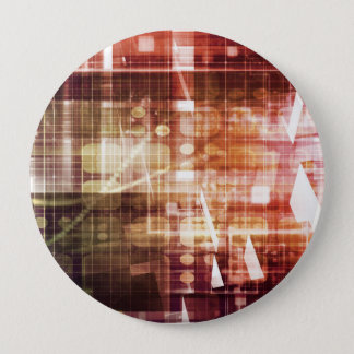 Digital Imagery with Data Network Transfer Art Pinback Button