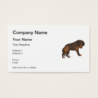 Digital Kaleidoscope Staring Wolf Business Card