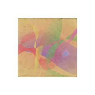 Digital Kandinsky Emulation Stone Magnet
