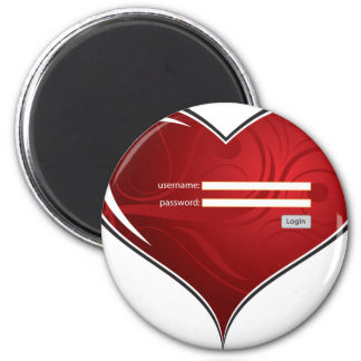 (digital) Key to my Heart Refrigerator Magnet