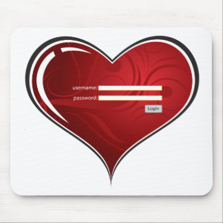 (digital) Key to my Heart Mouse Pad