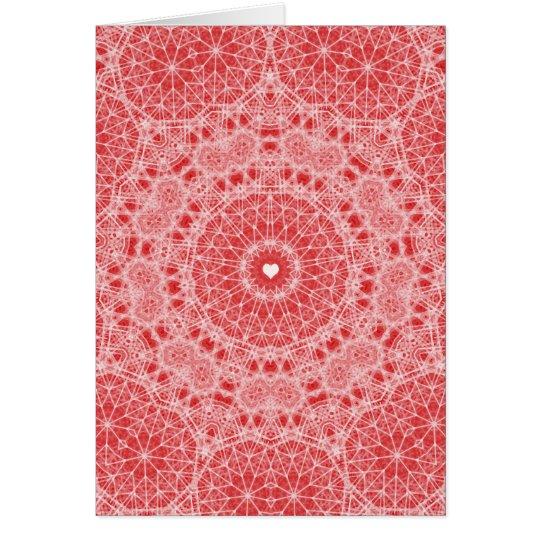 Digital Lace Doily Valentine Card