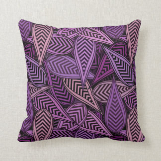 Digital Leaves Decorative Pillow