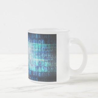 Digital Literacy as a Technology Concept Backgroun Frosted Glass Coffee Mug