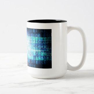 Digital Literacy as a Technology Concept Backgroun Two-Tone Coffee Mug