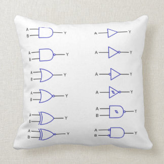 Digital Logic functions electronics Throw Pillow