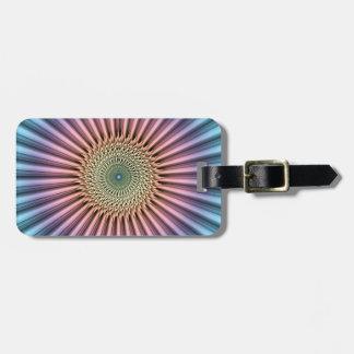 Digital Mandala Flower Bag Tag