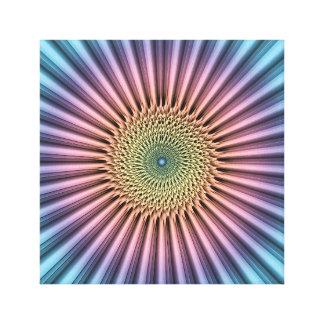 Digital Mandala Flower Canvas Print