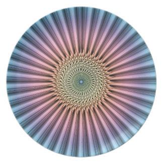 Digital Mandala Flower Melamine Plate
