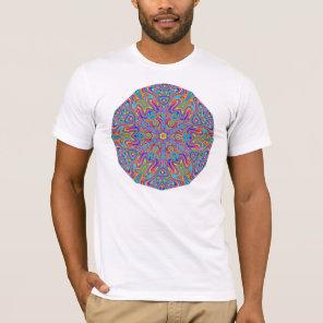 Digital Mandala Kaleidoscope T-shirt