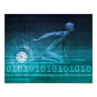 Digital Marketing Technologies and Fast Paced Poster