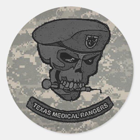 digital, Medical rangers with skull-cartoon Classic Round Sticker