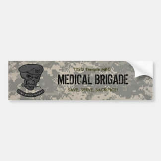 digital, Medical rangers with skull-med brig TX... Bumper Sticker