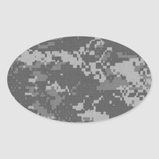 Digital Military camouflage Oval Sticker