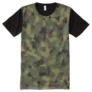 Digital Military Green Camouflage All-Over-Print T-Shirt