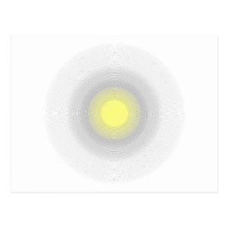Digital Minimalist Sunshine. Postcard