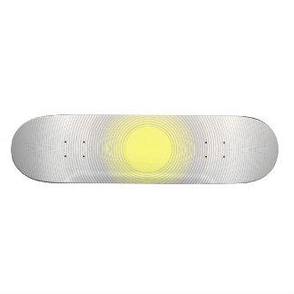 Digital Minimalist Sunshine Skateboard