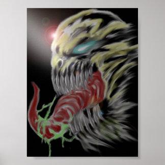Digital Monster Art Print