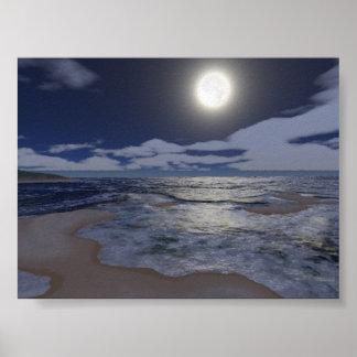 Digital Moonglow Poster