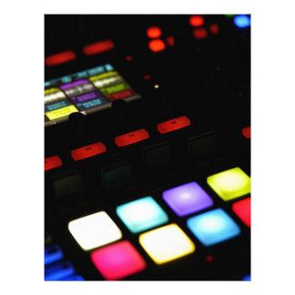 Digital Music Dj Technology Sequencer Samples Letterhead