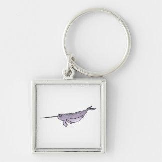 Digital Narwhal Illustration, Sea Animal Keychain