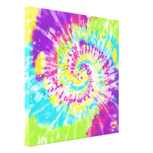 03db953667f3 Digital Neon Tie Dye Canvas Print