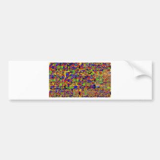 Digital noise bumper sticker
