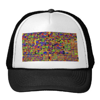 Digital noise trucker hat