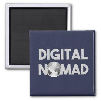Digital Nomad Traveller Magnet