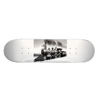 Digital Oil Painting Of Steam Engine 119 Skateboards