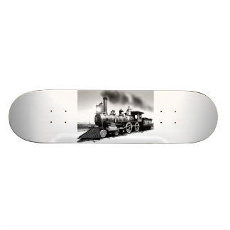 Digital Oil Painting Of Steam Engine 119 Skateboard Deck