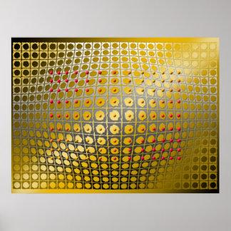 Digital Op-art  Spheroid magnetism Poster