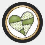 Digital Padded Patchwork - Heart-002 Sticker