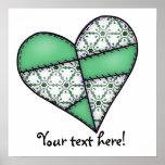Digital Padded Patchwork - Heart-003 Print