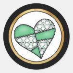 Digital Padded Patchwork - Heart-003 Sticker