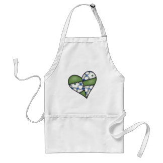 Digital Padded Patchwork - Heart-005 Adult Apron